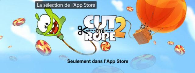 Cut The Rope 2 est disponible comme prévu!