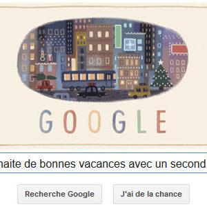 Google nous souhaite de bonnes vacances avec un second Doodle