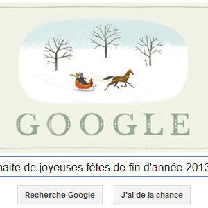 Google vous souhaite de joyeuses fêtes de fin d'année 2013 ! [Doodle]