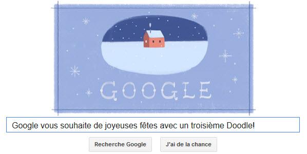 Google vous souhaite de joyeuses fêtes avec un troisième Doodle!