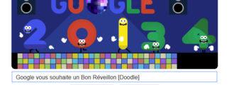 Google vous souhaite un Bon Réveillon du Jour de l'An [Doodle]