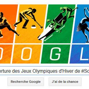 Google fête l'ouverture des Jeux Olympiques d'Hivers de #Sotchi2014