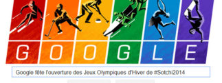 Google fête l'ouverture des Jeux Olympiques d'Hiver de #Sotchi2014
