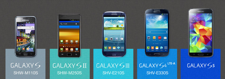 comparatif des samsung galaxy s3 s4 et s5 en image. Black Bedroom Furniture Sets. Home Design Ideas