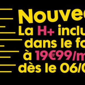 La H+ débarque enfin chez Sosh sur son forfait à 19,99€ mais en profite pour supprimer l'offre Cineday
