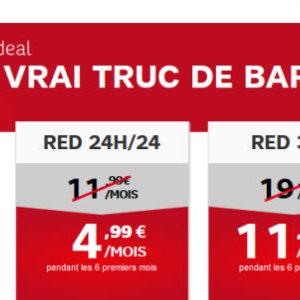 RED de SFR brade ses prix du 3 au 13 mars pour des remises de 6 mois
