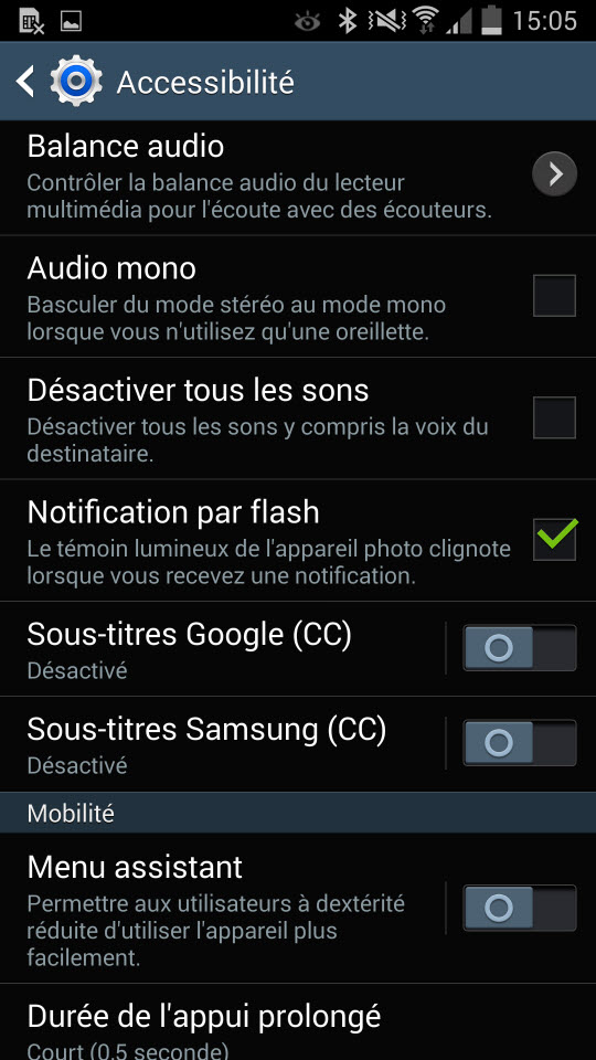 Comment activer la notification par flash pour les appels et SMS sur le Galaxy Note 3? [Pas à Pas]