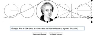 Google fête le 296ème anniversaire de Maria Gaetana Agnesi [Doodle]