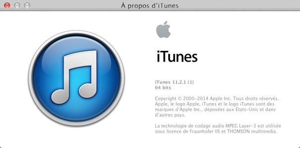 iTunes 11.2.1 est disponible au téléchargement