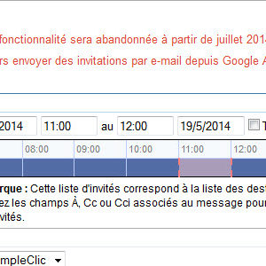 Google mettra fin à l'envoi d'invitations Google Agenda depuis Gmail en juillet 2014