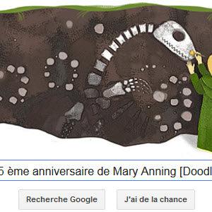 Google fête le 215ème anniversaire de Mary Anning [Doodle]