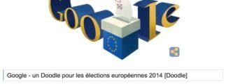 Google – Un Doodle pour les élections européennes 2014 [Doodle]