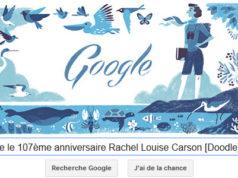 Google fête le 107ème anniversaire Rachel Louise Carson [Doodle]