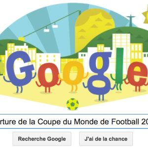 Google fête l'ouverture de la Coupe du Monde de Football 2014 [Doodle]