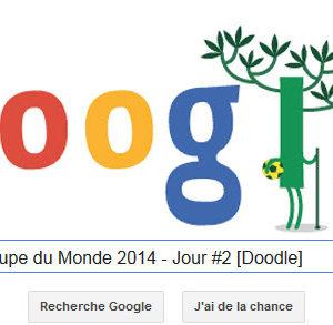 Google fête la Coupe du Monde 2014 - Jour #2 [Doodle]