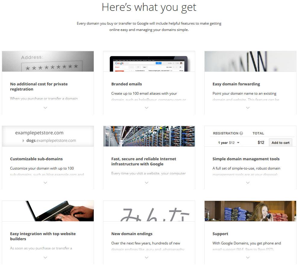Google se lance dans l'enregistrement de noms de domaine avec Google Domains
