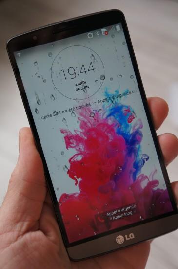 LG G3 : prise enn main