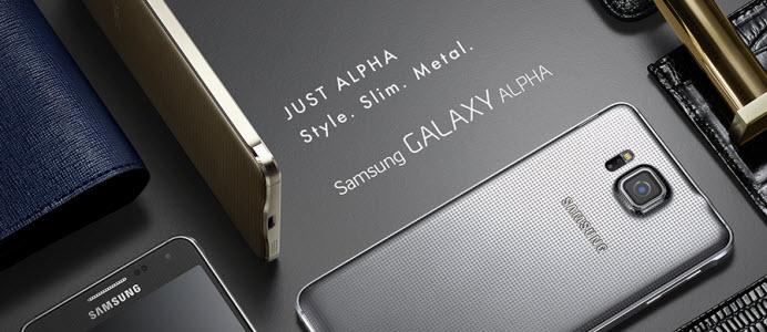 Samsung officialise de Galaxy Alpha qui fait évoluer le design de la gamme