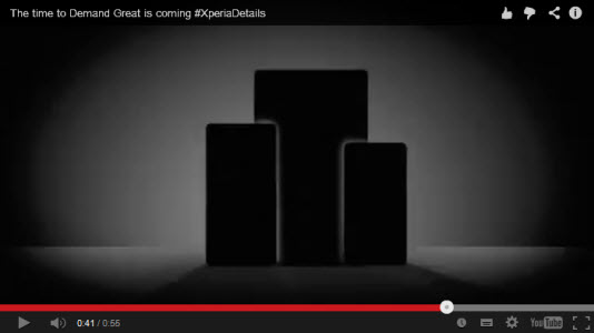 #IFA2014 - Sony tease trois produits, les Xperia Z3, Xperia Z3 Compact et Xperia Z3 Tablet Compact