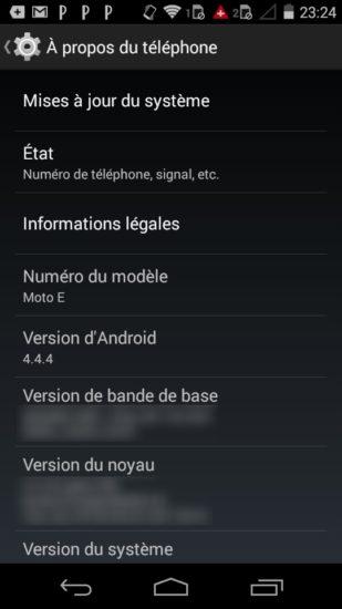 Moto E : un entrée de gamme plus qu'intéressant