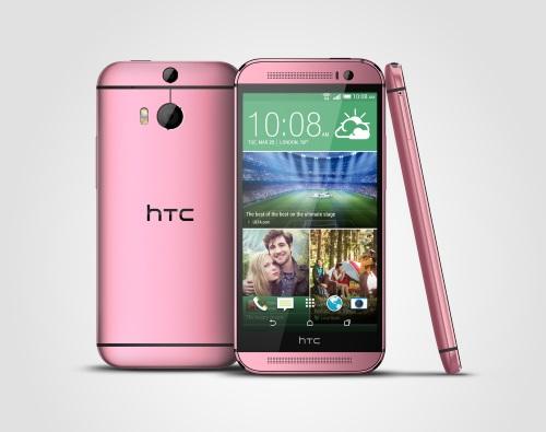 HTC annonce la disponibilité de son HTC One M8 en rouge et en rose