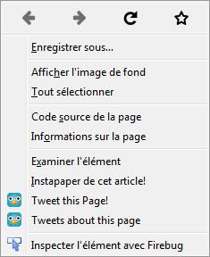 Firefox 32 - Nouveaux boutons lors du clic droit