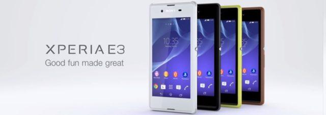 #IFA2014 - Sony Xperia E3, un smartphone d'entrée de gamme 4G