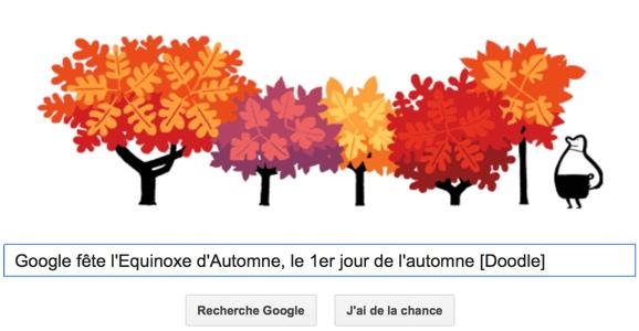 Google fête l'Equinoxe d'Automne, le 1er jour de l'automne [Doodle]