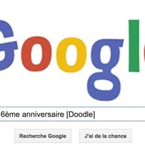 Google fête son 16ème anniversaire [Doodle]