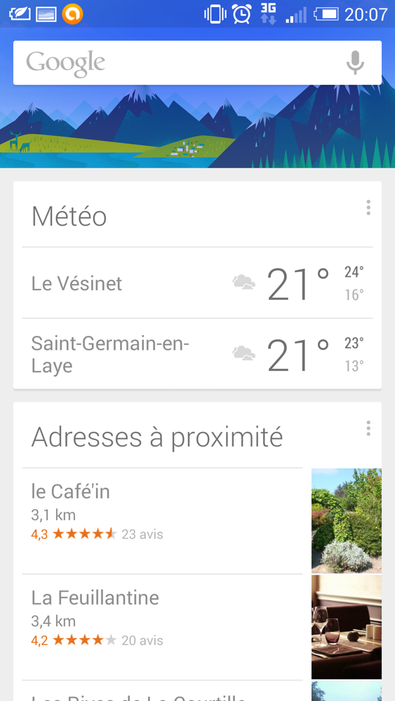 Launcher Google Now