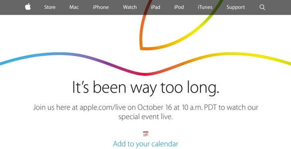 La keynote d'Apple sera diffusée en direct le 16 octobre 2014 à 19h!