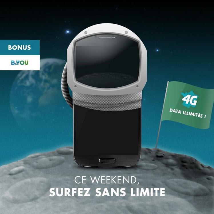 Bouygues Telecom - un long weekend de 4 jours de surf illimité les 8, 9, 10 et 11 novembre prochain!