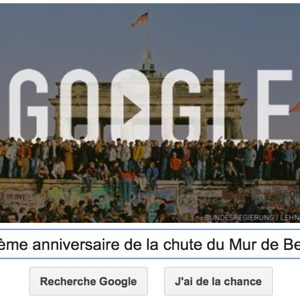 Google fête le 25 ème anniversaire de la chute du Mur de Berlin
