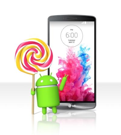 LG : 1er fabricant à déployer la mise à jour Android 5.0 Lollipop