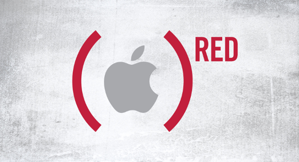 Apple soutient (RED)