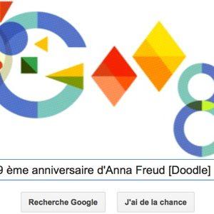 Google fête le 119ème anniversaire d'Anna Freud [Doodle]