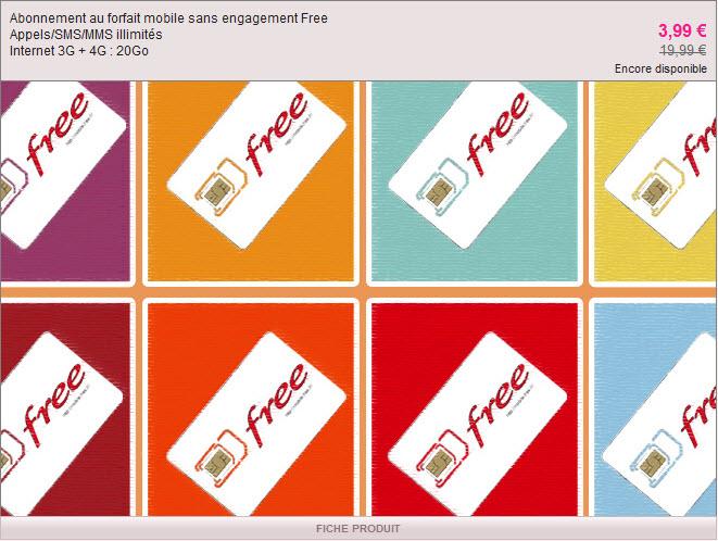 #FreeMobile brade son forfait à 19,99€ sur Vente-privee.com à 3,99€/mois jusqu'au 10 décembre