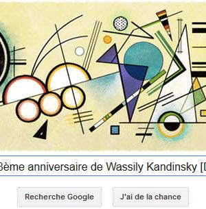 Google fête le 148ème anniversaire de Wassily Kandinsky [Doodle]