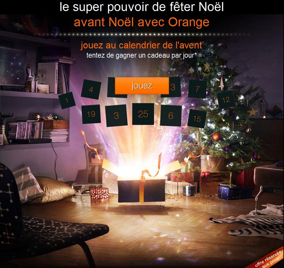 Orange aussi fait plein de cadeaux pour Noël... mais avant Noël