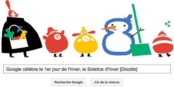 Google c l bre le 1er jour de l 39 hiver le solstice d 39 hiver doodle unsimpleclic - Jour de l hiver ...