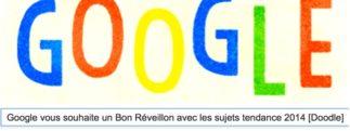 Google vous souhaite un Bon Réveillon avec les sujets tendance 2014 [Doodle]