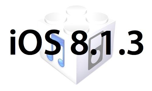 L'iOS 8.1.3 est disponible au téléchargement [liens directs]
