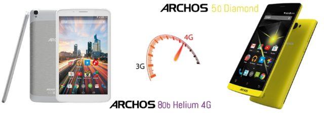 #CES2015 - Archos renouvelle son offre de smartphones et de tablettes 4G dont l'Archos Diamond et l'Archos 80b Helium