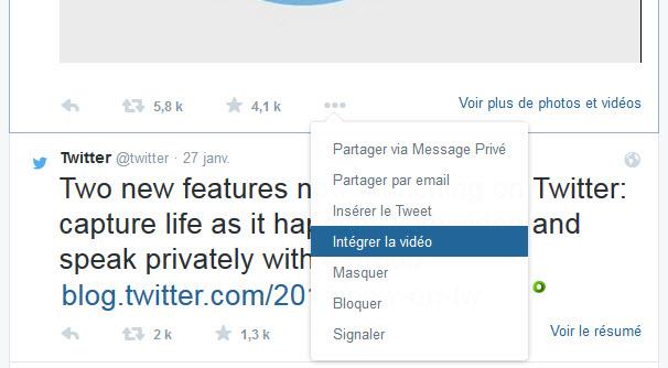 Twitter : il est maintenant possible d'intégrer une vidéo sur un site web