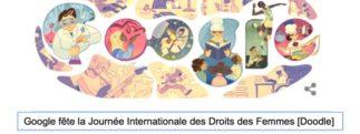 Google fête la Journée Internationale des Droits des Femmes [Doodle]