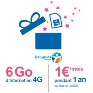 Bouygues Telecom propose à ses clients une série limitée de 6 Go à 1 euro par mois pendant 1 an