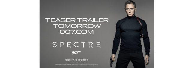 James Bond 007 : le trailer de Spectre sera dévoilé aujourd'hui