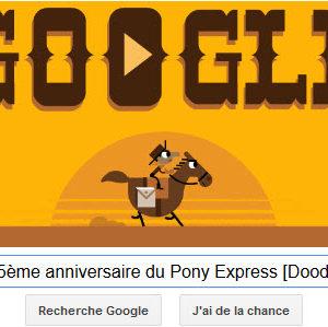 Google fête le 155ème anniversaire du Pony Express avec un Doodle ludique