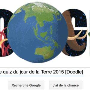 Google propose le quiz du Jour de la Terre 2015 [Doodle]