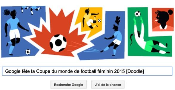 Google fête la Coupe du monde de football féminin 2015 [Doodle]